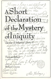 A Short Declaration of the Mystery of Iniquity